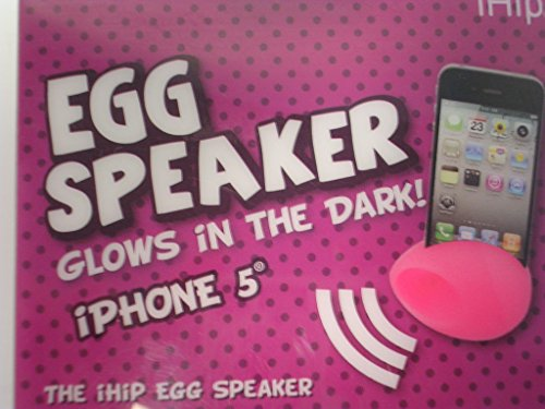 Pink Egg Speaker for Iphone Glows in the Dark