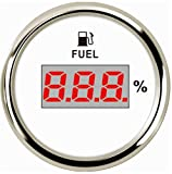 Samdo 52mm Universal Digital Fuel Level Gauge Meter For Boat Car Motorcycle 0-190ohm Signal 12V/24V