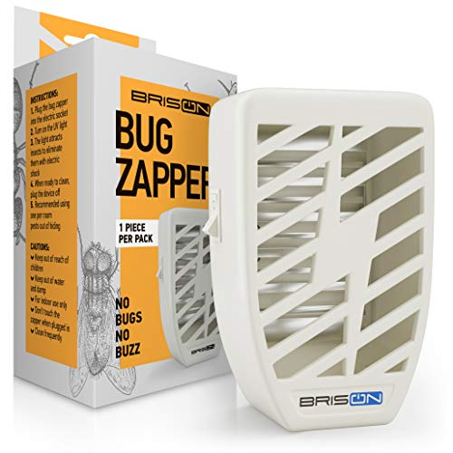 Killer Lamp (Indoor Plug-in Bug Zapper - Power Portable Home Electric Insеct Trap - Odorless Noiseless - Blue Night Lamp for Removes Flies Mosquitos Gnats Moth and Bugs)