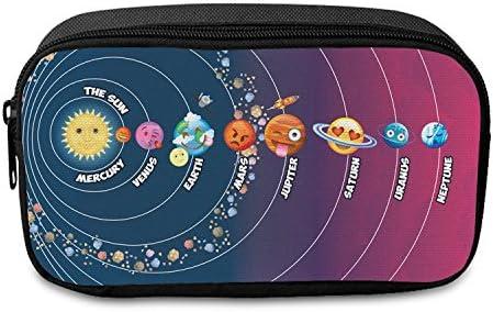 Estuche infantil Fringoo, con cremallera, color Emoji Sollar System - Front Large: Amazon.es: Oficina y papelería
