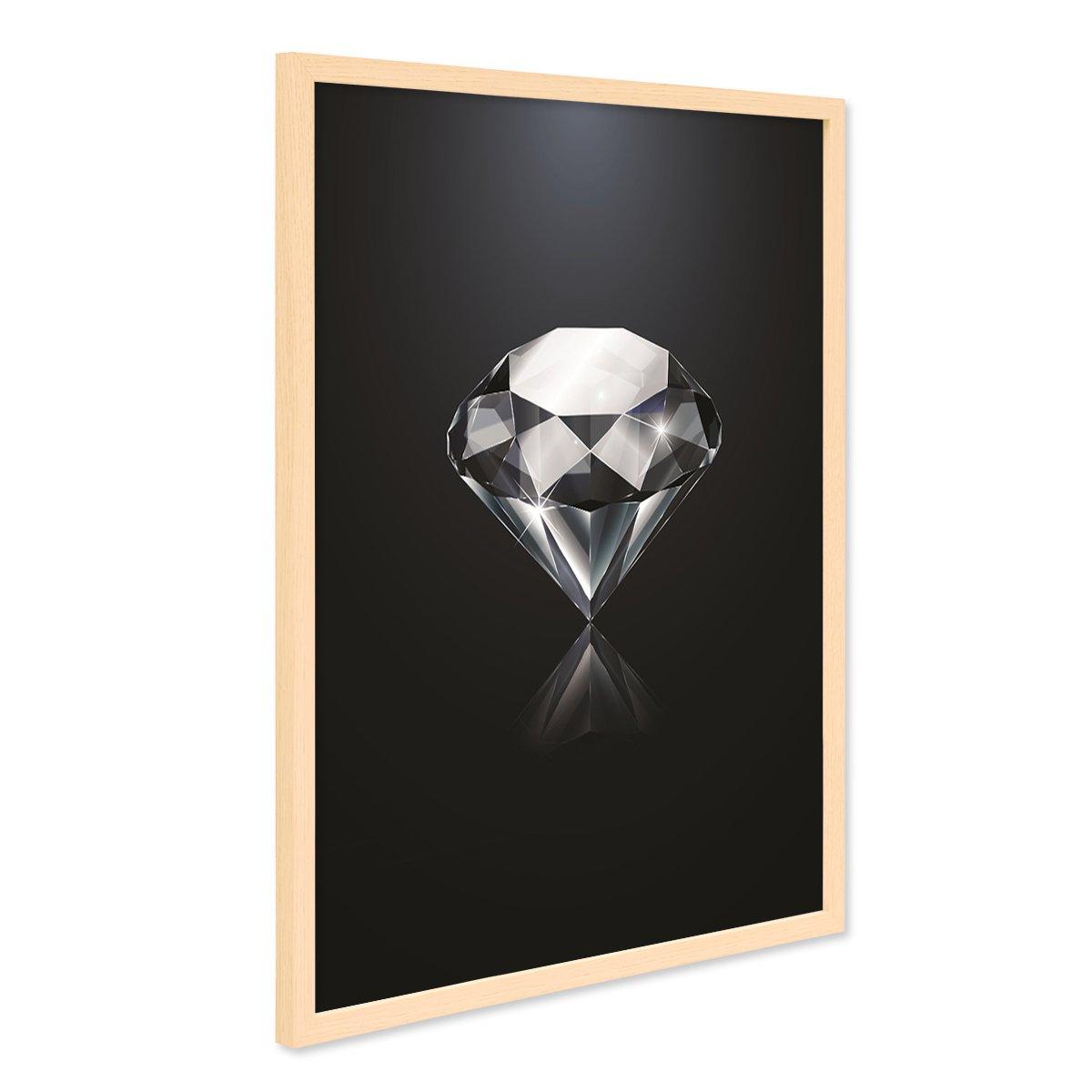 PHOTOLINI Design-Poster mit Bilderrahmen Natur \'Diamant\' 40x50 cm ...