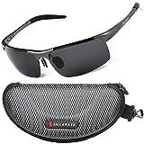 Sunglasses Man Polarised Sunglasses for Men Women by ZILLERATE, Mens Womens Fashion Sunglasses, Driving Cycling Fishing Golf Sailing Cricket Hiking Trekking, Anti Glare UV Protection Light Metal Frame