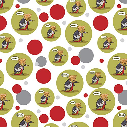GRAPHICS & MORE Donald Trump Undead Zombie Halloween Funny Premium Gift Wrap Wrapping Paper Roll ()