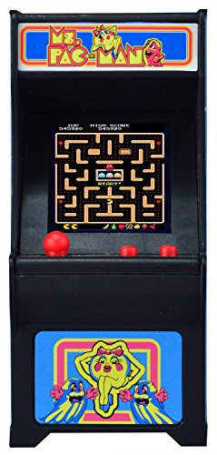 Tiny Arcade Ms. Pac-Man Miniature Arcade Game, used for sale  Delivered anywhere in USA