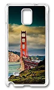 Samsung Galaxy Note 4 Case, San Francisco Bridge Customize Design Case Cover for Samsung Galaxy Note 4 N9100 Plastic Hard Case Transparent by ruishername