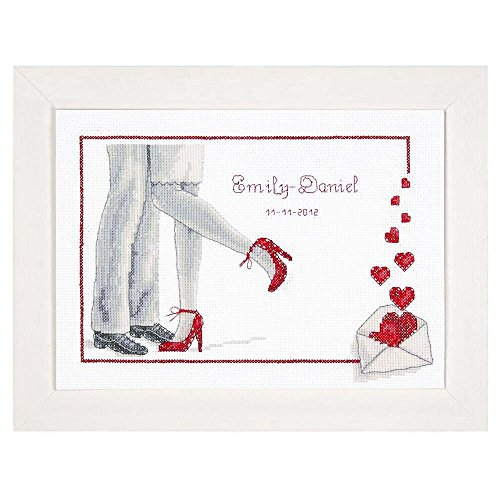 Vervaco Forever Wedding Record On Aida Counted Cross Stitch