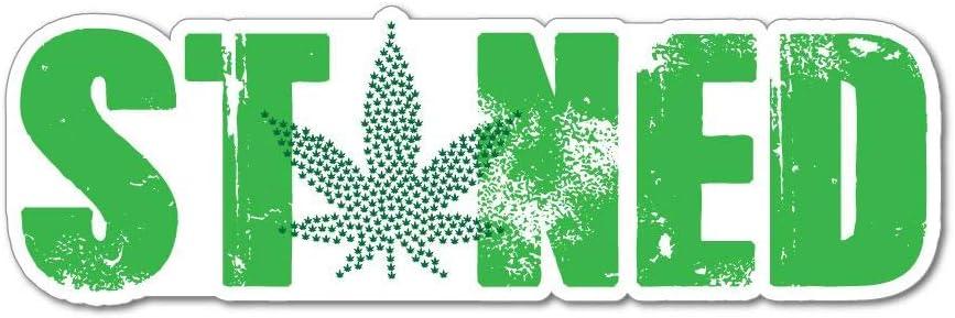 Stoned Dope High Weed Marijuana Bake Wake Green Car Sticker Decal Auto