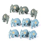 SODIAL 10pcs Miniature Doll HOU Bonsai Garden Micro-Landscape Elephant Decor