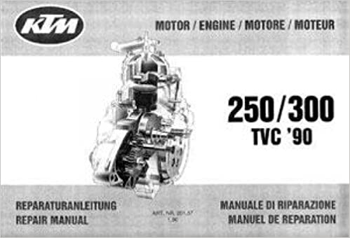 1990 KTM 250-300 Motorcycle Owners Handbook