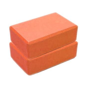 Sonmer Fitness Yoga Foam Brick,For Cushion EVA Gym Training (Orange)