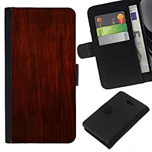 KingStore / Leather Etui en cuir / Sony Xperia M2 / Brown rústico rojo Dise?o interiores Paredes