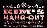 pq118-r Kim's Hang Out Girl Kid's Room Light Neon Sign