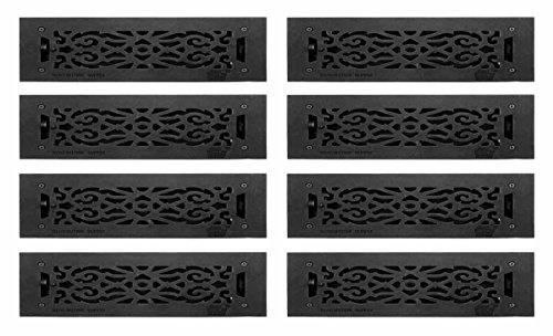 RENOVATOR'S SUPPLY Register Black Aluminum Heat Register ...