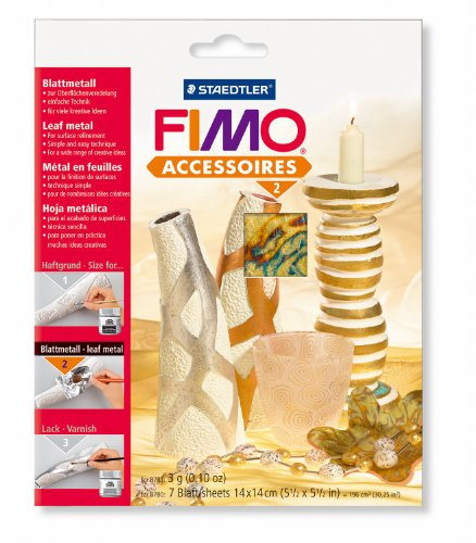 Staedtler 8780-99 Fimo Accessories Leaf Metal Abalone 7 Pieces