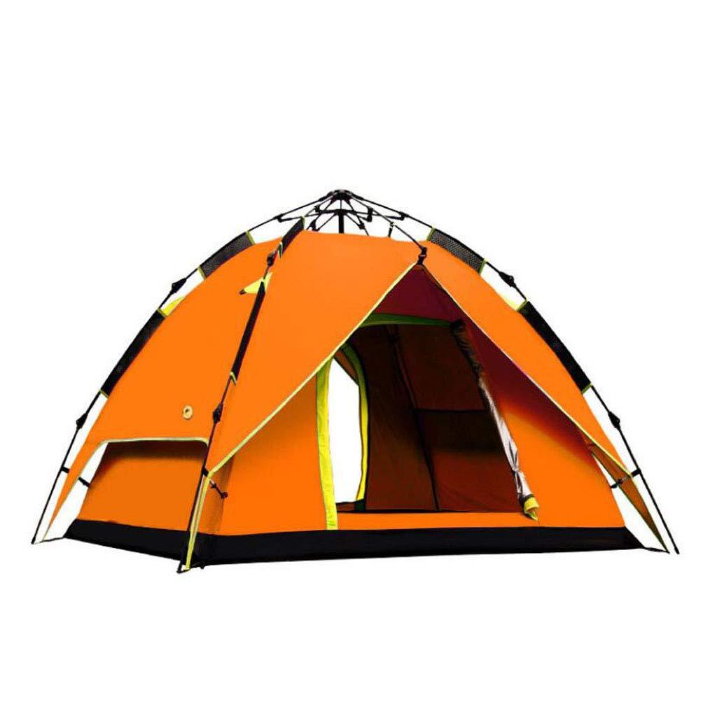 JBHURF Outdoor Camping Automatisches Zelt 3-4 Personen Angeln Camping Regen Zelt (Farbe : Orange)