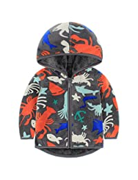 Baby Boys Polar Fleece Jackets Hoodie Jackets Reversible Coats Spring Outerwear