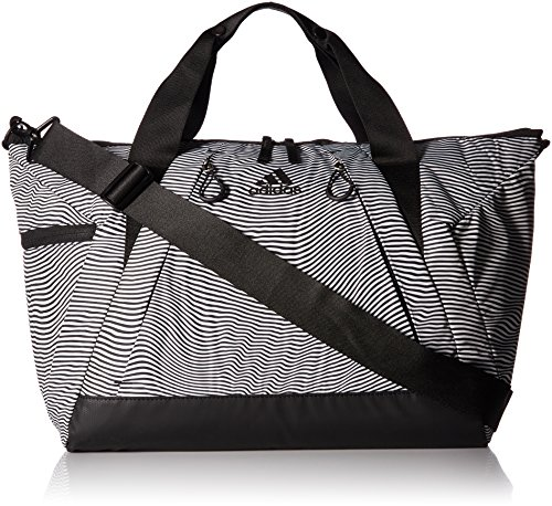 (adidas Studio II Duffel Bag, Optic Stripe/Black, One)
