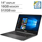"""ASUS ZenBook UX430UQ 14.0"""" FHD Nano-Edge bezel Ultra-Slim Laptop ( Intel Core i7-7500U Processor 2.7GHz, 16GB DDR4 RAM, 512GB SSD, 2GB NVIDIA GeForce 940MX, Backlit keyboard, Bluetooth, Windows 10))"""