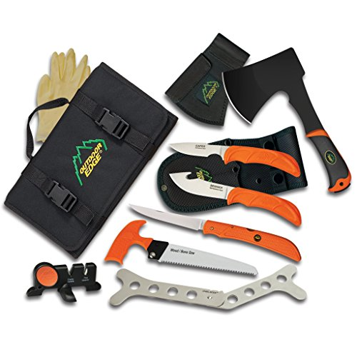 Outdoor Edge The Outfiter, OF-1, Complete Hunting and Outdoor Knife and Tool Set with Roll Pack