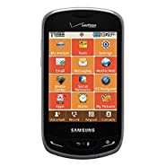 Verizon Samsung Brightside SCH-U380 (No Contract) - CDMA Black/Sapphire Color 3MP QWERTY Touch Cell Phone SCHU380 U380