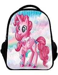 YOURNELO Girls 3D Printed Pattern My Little Pony Rucksack School Backpack Bookbag