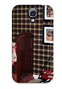 Excellent Design Traditional Nursery With Plaid Wallcovering Case Cover For Galaxy S4
