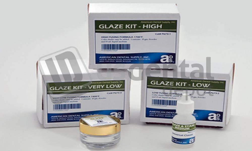 ADS- Glaze - High Fusing 0.5oz. PDR & 1 oz. Liq. kit 1 - # P673-1 118174 Us Dental Depot