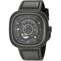 SEVENFRIDAY Men's P2-2 WORKS Analog Display Japanese Automatic Black Watch