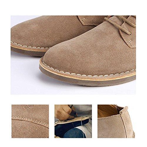 Serein À Lacets Plats Chaussures Habillées Oxford En Daim Hommes Cuir D'affaires Classique Casual Chaussures Camel