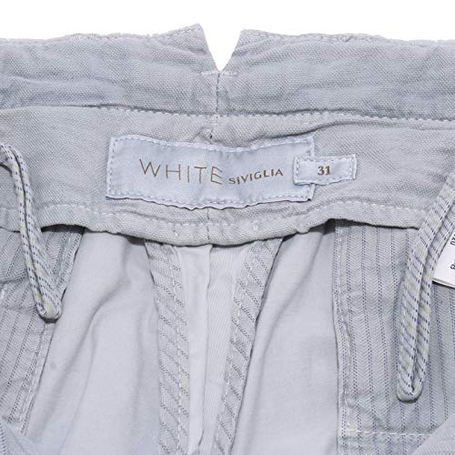 Uomo White Trouser Pantalone 6393y Grigio Grey Delave Cotton Siviglia Man aqvFRxE