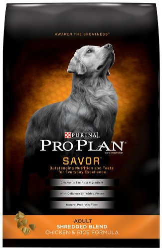 Purina Pro Plan Dry Adult Dog Food, Shredded Blend Chicken and Rice Formula, 6-Pound Bag, My Pet Supplies