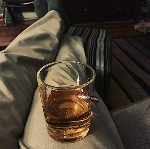 Lucky Shot .308 RealBullet HandmadeWhiskey Glass - Set of 4 by Lucky Shot (Image #5)