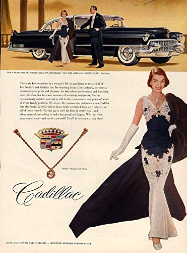 Few occasions as gratifying as arriving in a Cadillac 60 Special ad 1955 HB