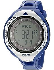 Seiko Mens SBEB011 Prospex Digital Display Japanese Quartz Blue Watch
