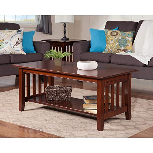 (Atlantic Furniture Mission Coffee Table Walnut )