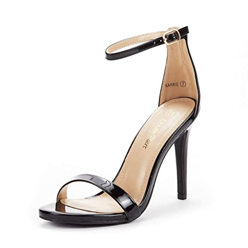 Ankle Strap Stiletto Open Toe Sexy Triple Strappy High Heel Party Shoes