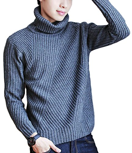 Half M Men's Pullovers Turtle 8 Casual amp;W Sweater Neck amp;S Sleeve Long 1waZX