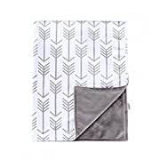 Towin Baby Arrow Minky Double Receiving Blanket, Grey 30 x40  …