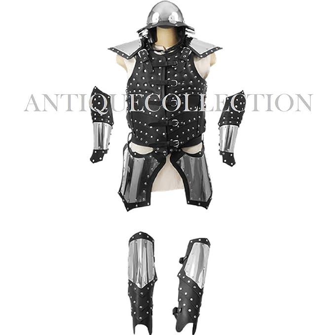 Amazon.com: Juego completo de armadura de guerra Medieval ...