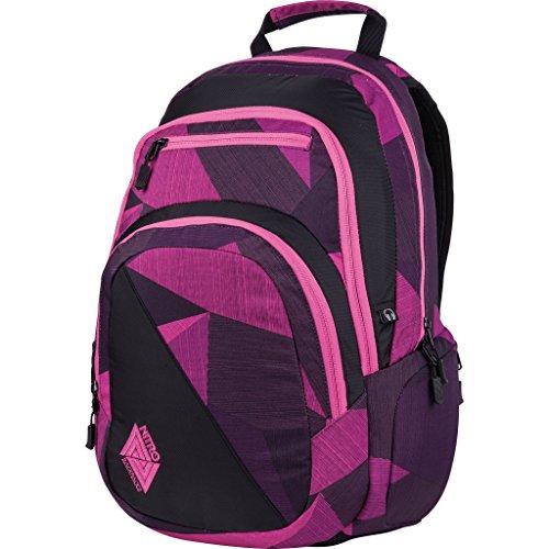 Nitro Stash Rucksack, Schulrucksack, Schoolbag, Daypack, Wicked Green, 49 x 32 x 22 cm, 29 L Fragments Purple