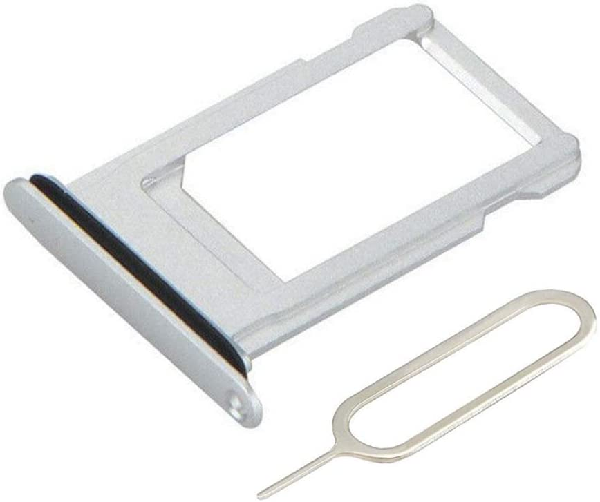 Afeax Silver SIM Card Tray Holder Replacement for iPhone X