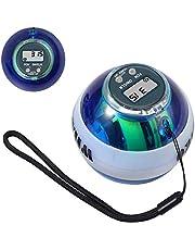 COLFULINE Energybal, autostart rotatiebal, led-licht, basic gyroscopische handtrainer, spiertrainer, met box, voor het trainen van de armspieren, met digitale toerentalmeter