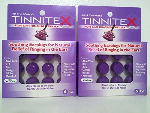 Acouphènes apaisant les boules quies pour la sonnerie naturelle en Relief de l'oreille, pr 6 (Pack de 2)