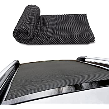 CAR ROOF PROTECTIVE MAT, Siivton Roof Rack Pad Non-slip for Car Roof Storage Bags