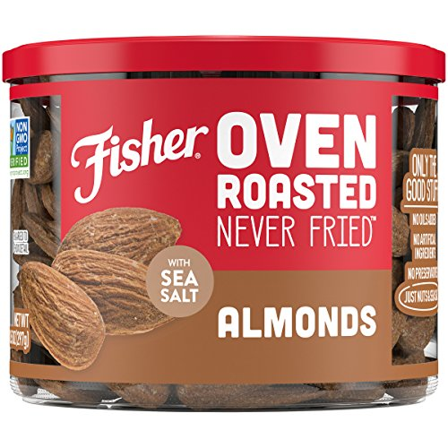 Almond Oil Peanut Roasted - FISHER Snack, Oven Roasted Never Fried, Almonds, Made with Sea Salt, 10.5 oz