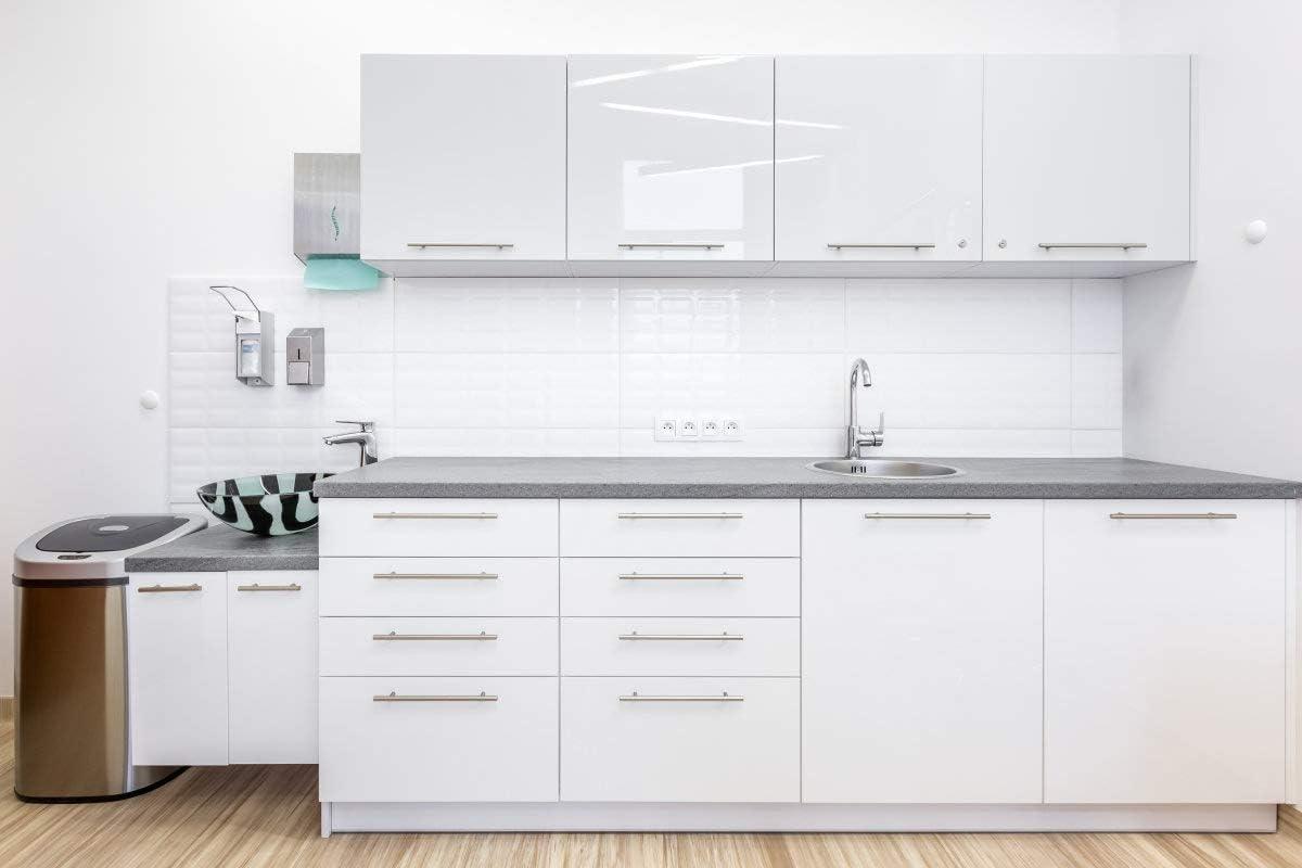 iKINLO Papier Peint Adhesif 61 500CM Ponit D/éclair Blanc /Étanche D/écoration Fine D/écor Moderne Minimaliste Cabinet Papier Autocollant Applicable aux Comptoirs et Cabinets etc 2 Rouleaux