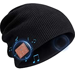 Bluetooth beanie hat headphones combines fashion and technology, dressy and sporty design: Stable bluetooth connection, ultra-low power, block out ambient noise without using earplugs that are painful and fall out. Enjoying music, voice assis...