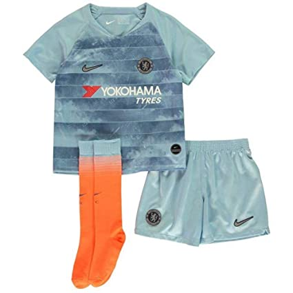 new arrival 9cd00 614d8 Amazon.com : NIKE 2018-2019 Chelsea Third Little Boys Mini ...