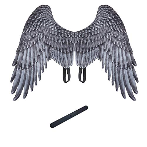 YUNZHE Dragon Mask and Wings and Silicone Balloon Band (3PC) Suitable for Halloween Masquerade Costume Carties Beer Festival Adult Fancy Dress Carnival Christmas Easter Other Parties (lucifer wings)