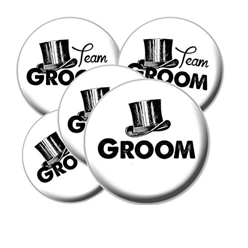 8 Top Hat Team Groom Buttons - Bachelor Party Buttons - Top Hat Team Groom Buttons - Bachelor Party